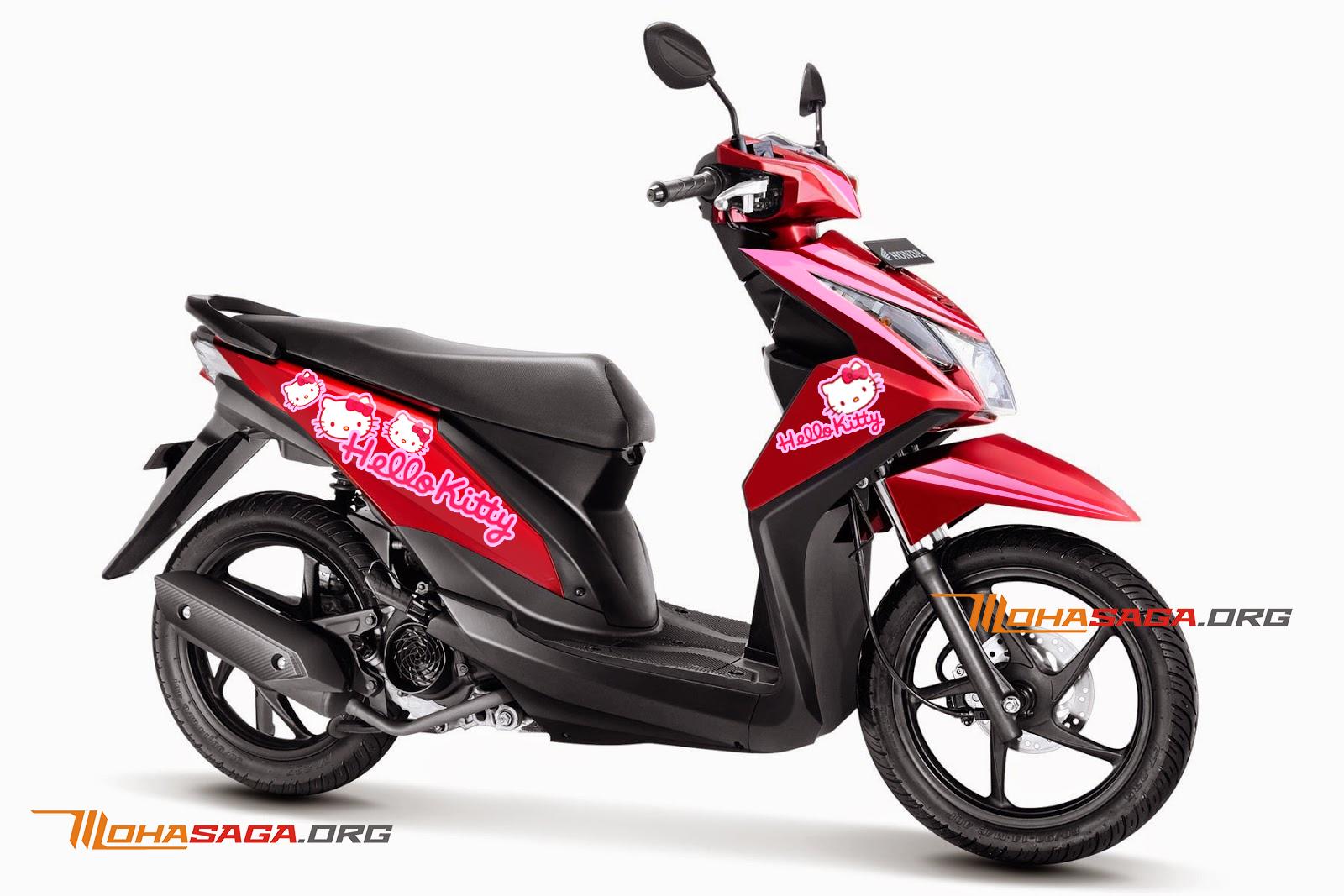 Ide 45 Modifikasi Motor Honda Beat Hello Kitty Terkeren Janggel